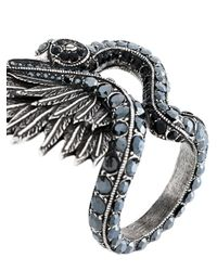 Lanvin - Metallic Swan Ring - Lyst