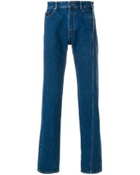 Y. Project - Blue Twisted Seam Side Button Jeans for Men - Lyst