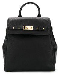 MICHAEL Michael Kors Black Studded Square Backpack