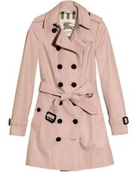 Burberry - Pink Mid-length Trench Coat - Lyst
