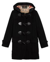 Burberry - Black Mersey Duffle Coat - Lyst