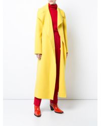 Ralph Lauren Collection - Yellow Long Belted Coat - Lyst