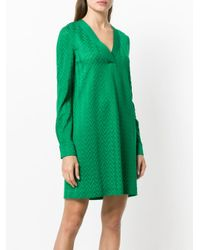 Missoni - Green V-neck Shift Dress - Lyst