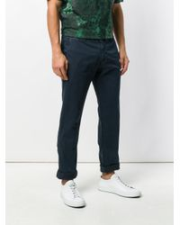 Stone Island Blue Classic Chino Trousers for men
