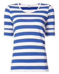 Sea - Blue Striped T-shirt - Lyst