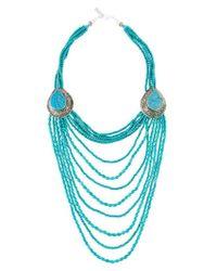 Night Market - Blue Long Beaded Necklace - Lyst