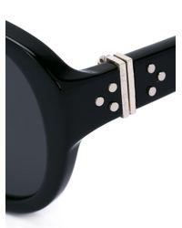 Linda Farrow - Metallic Stud Detail Sunglasses - Lyst