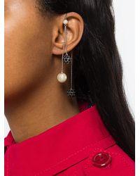 Marc Jacobs - Metallic Crystal Pearl Delicate Earring - Lyst