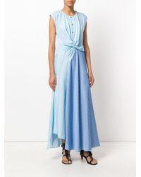 3.1 Phillip Lim - Blue Twisted Henley Maxi Dress - Lyst