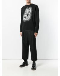 McQ Alexander McQueen - Black Bunny Be Here Now Sweatshirt for Men - Lyst