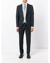 Canali | White Micro Design Waistcoat for Men | Lyst