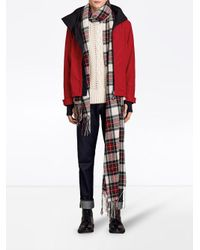 Burberry - Red Lightweight Jacket for Men - Lyst
