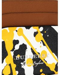 Burberry - Black Splash Print Card Case - Lyst