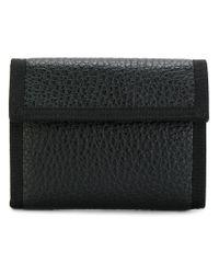 Maison Margiela - Black Replica Pebbled Wallet for Men - Lyst