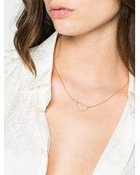 Rosa De La Cruz - Metallic Yellow Gold And Diamond Heart Charm Necklace - Lyst