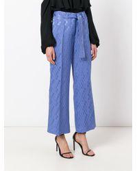 Etro - Purple Wide-leg Cropped Trousers - Lyst