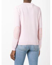 Maison Margiela | Pink Elbow Patch Jumper | Lyst
