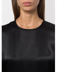 Aurelie Bidermann - Metallic Paperclip Diamond Necklace - Lyst