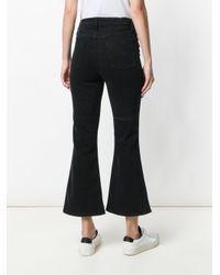 Hudson Black Flared Cropped Jeans