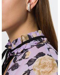 Magda Butrym - Metallic Medium Embellished Hoop Earrings - Lyst