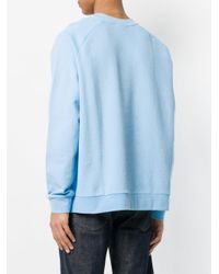 Calvin Klein - Blue Loose Fit Sweatshirt for Men - Lyst