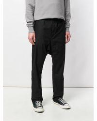 Rick Owens Drkshdw Black Long Drawstring Track Pants for men