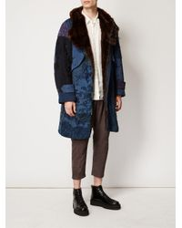 By Walid | Blue Embroidered Hooded Coat for Men | Lyst