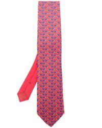 Etro - Red Tortoise Print Tie for Men - Lyst