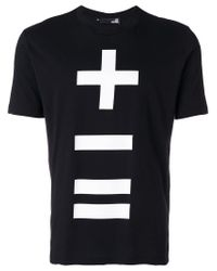 Love Moschino - Black '+-=' Branded T-shirt for Men - Lyst