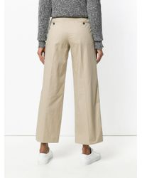 PS by Paul Smith - Brown Casual Cropped Trousers - Lyst
