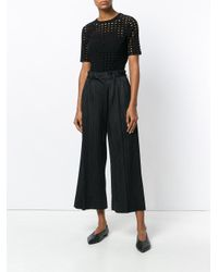 Pleats Please Issey Miyake - Black High Waisted Pleated Culottes - Lyst