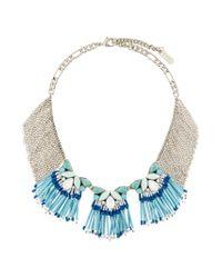 Rada' - Blue Fringed Short Necklace - Lyst