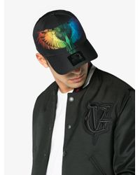 Marcelo Burlon Black Starter Rainbow Bird Cap for men