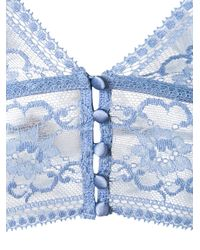 Stella McCartney - Blue Ophelia Whistling Soft-cup Lace Bra - Lyst