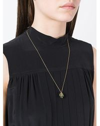 Isabel Marant - Metallic Teardrop Cluster Chain Necklace - Lyst