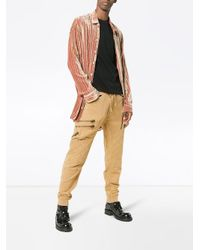 Haider Ackermann - Brown Quilted And Zipped Cotton Biker Trousers for Men - Lyst