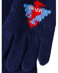 Prada - Blue Klassische Handschuhe for Men - Lyst