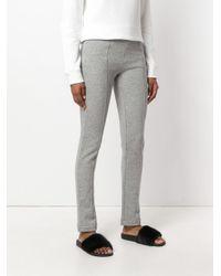 Joseph - Gray Straight Leg Trousers - Lyst