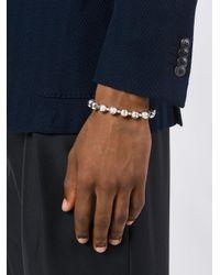 Emanuele Bicocchi - Metallic Ball Chain Bracelet for Men - Lyst