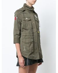 Joie - Green Single Breasted Coat - Lyst
