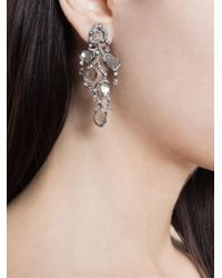 Saqqara - Metallic 18kt White Gold And Diamond 'flow' Earrings - Lyst