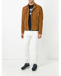 Golden Goose Deluxe Brand White Raw Edge Hem Jeans for men