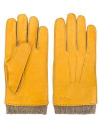 Paul Smith - Orange Rib-cuff Gloves for Men - Lyst