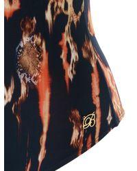 Brigitte Bardot | Blue Open Back Printed Swimsuit | Lyst