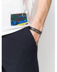 Prada - Black Logo Plaque Bracelet for Men - Lyst