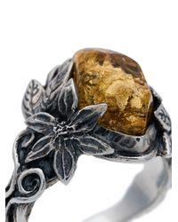 Lyly Erlandsson - Metallic 'Aria Leaf' Ring for Men - Lyst