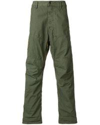 G-Star RAW Green Straight-leg Print Trousers for men