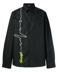 Versus  - Black Signature Logo Print Shirt for Men - Lyst