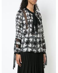 Anna Sui - Black Chasing Hearts Print Blouse - Lyst