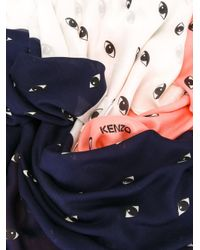 KENZO - Blue Eyes Scarf - Lyst